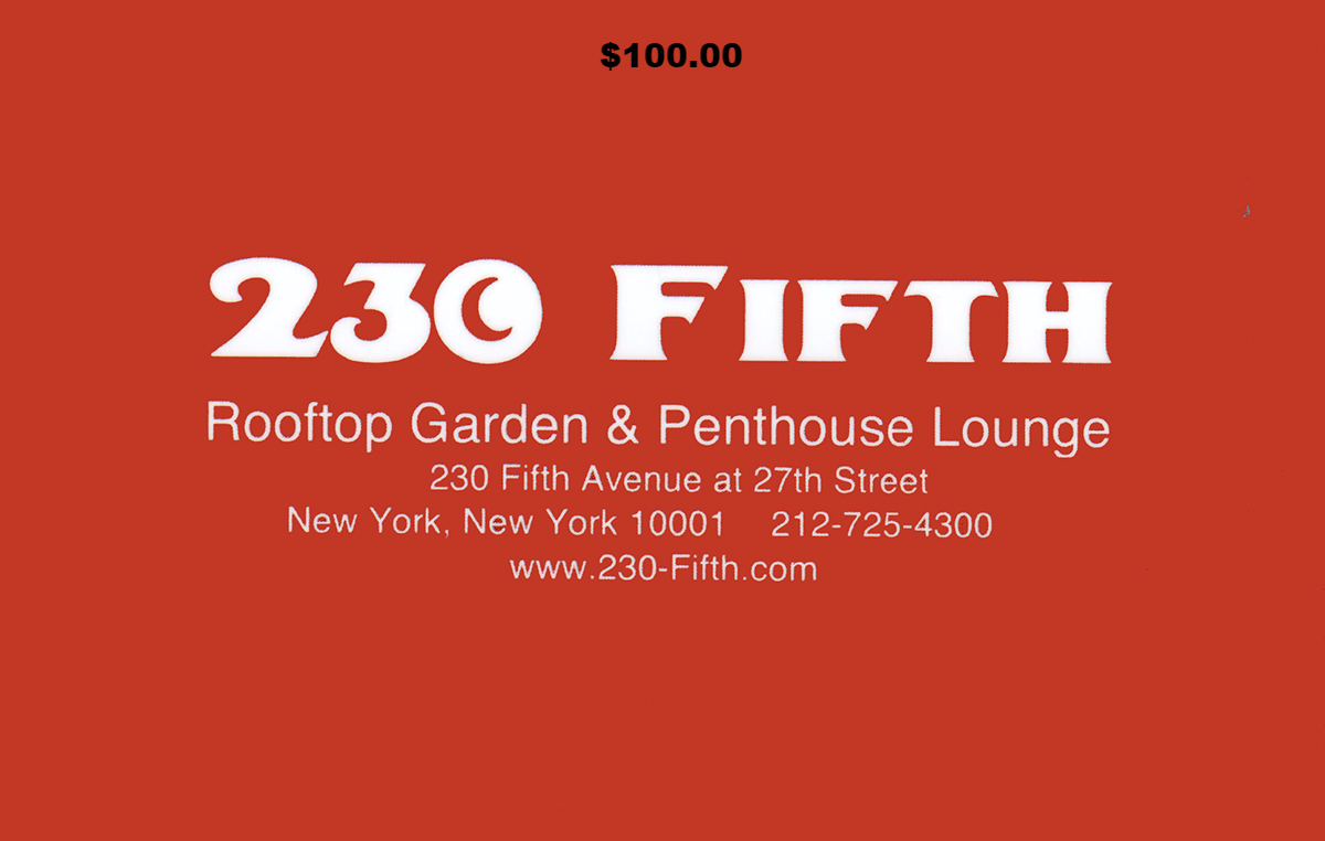 100 230 Fifth Gift Certificate Rooftop Bar Nyc Rooftop Bars