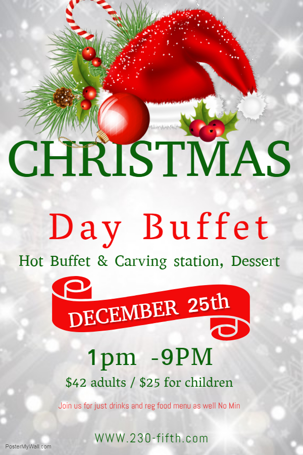 Christmas Day Buffet - Rooftop Bar NYC, Rooftop Bars NYC, Best ...