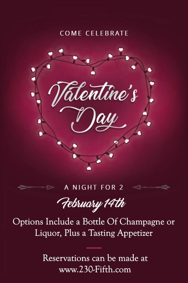 Valentine S Day For Couples Rooftop Bar Nyc New York S Largest