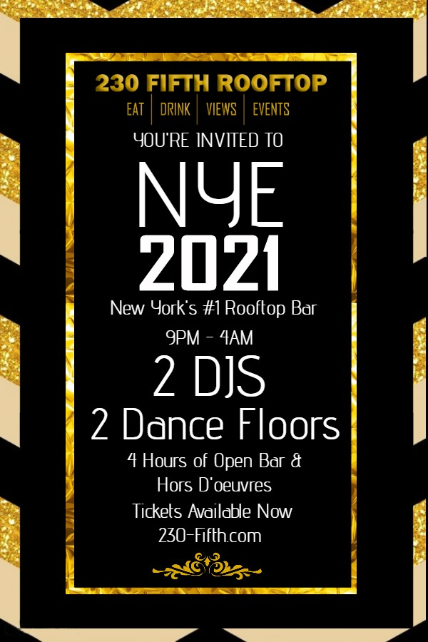 New Year's Eve 2021 - Rooftop Bar NYC - New York's largest indoor and outdoor bar